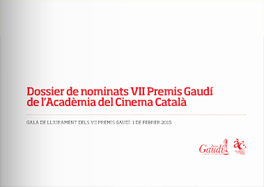 VII Gaudí Awards' nominations press kit